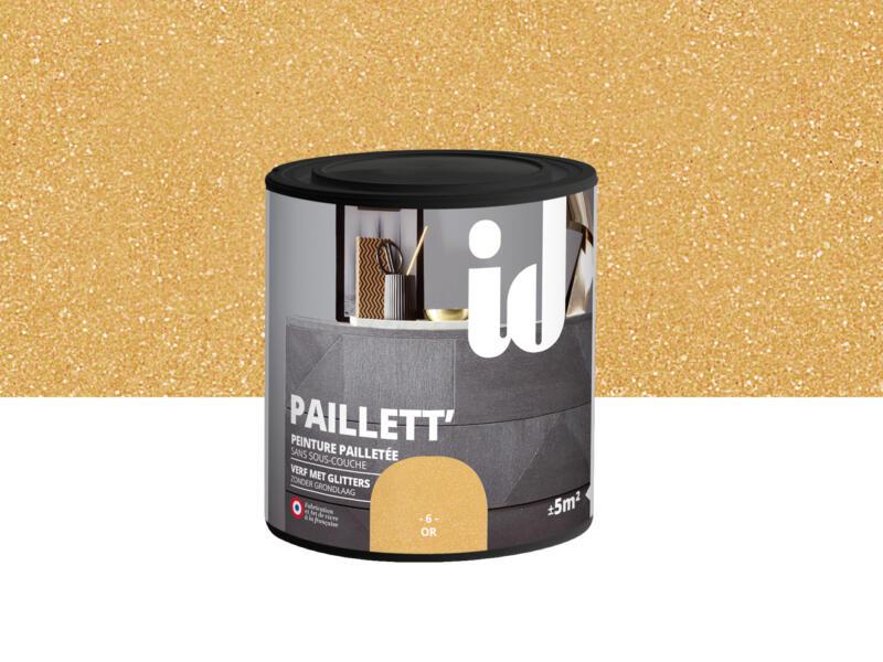 Paillett' peinture meubles bois et MDF 0,5l or