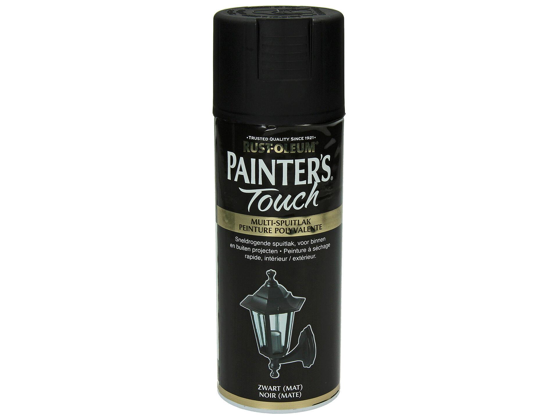 Peinture Laque Noir Mat painter's touch laque en spray mat 0,4l noir