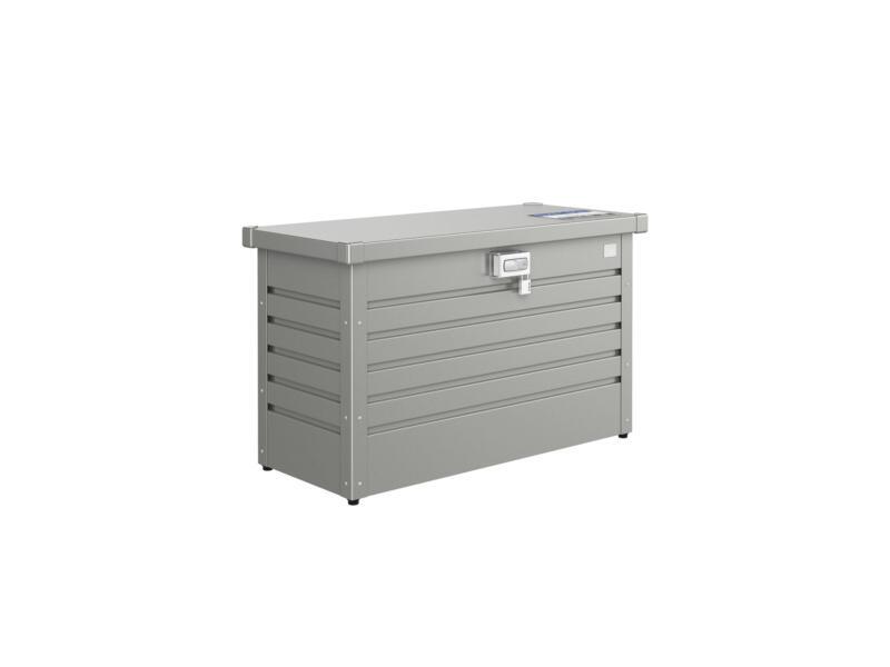 Biohort PakketBox 100 kussenbox 101x46x61 cm kwartsgrijs metallic