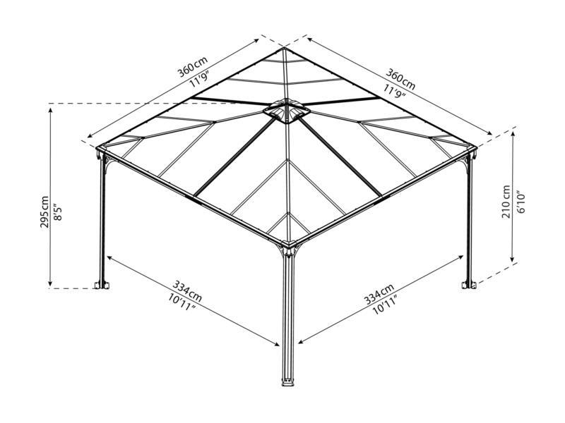 Palram Palermo pavillon 360x360 cm