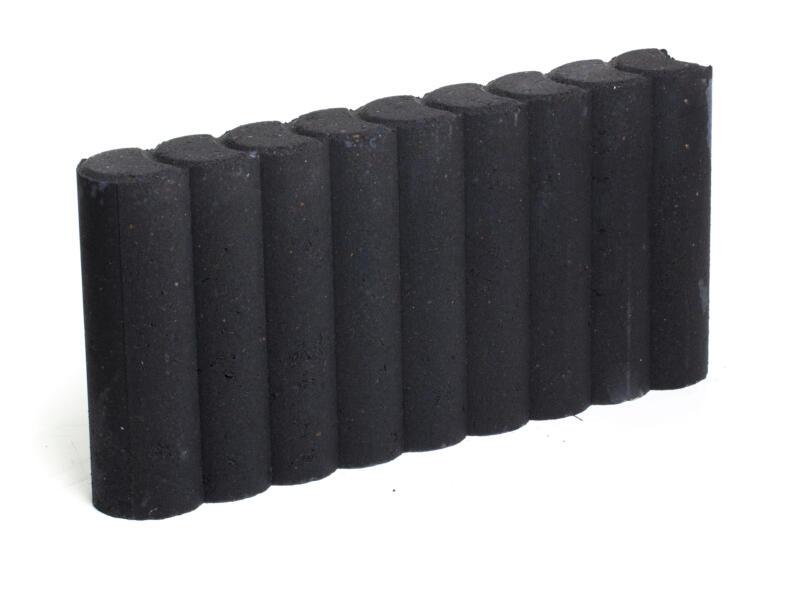 Palissade 50x25x8 cm zwart