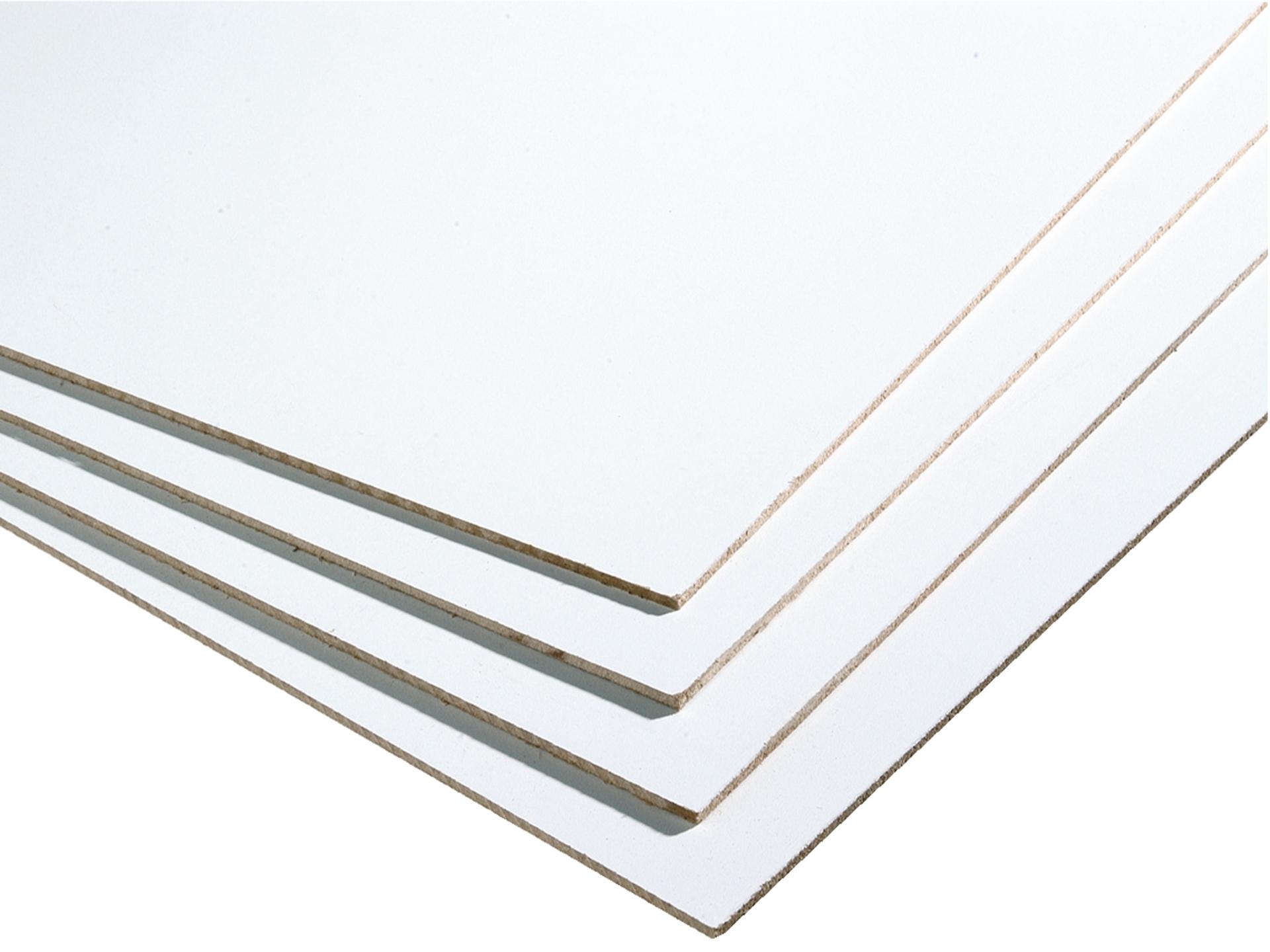 Panneau Mdf 244x122 Cm 3mm Blanc
