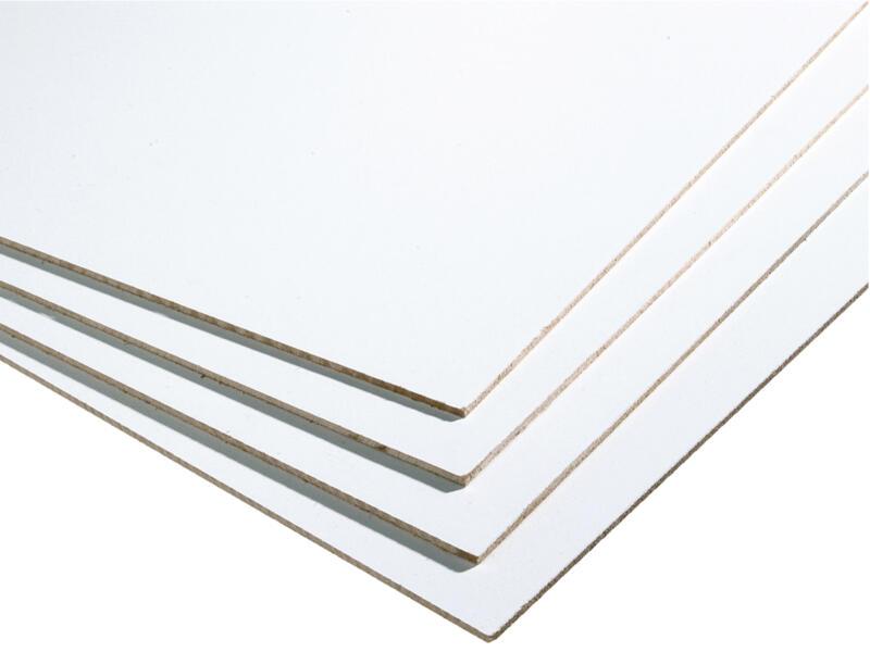 Panneau Mdf 244x122 Cm 3mm Blanc Hubo