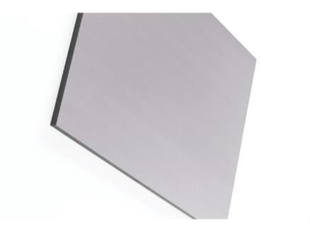 Panneau compact 305x130 cm 6mm gris chaud
