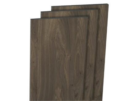 Panneau de meuble 250x30 cm chêne foncé