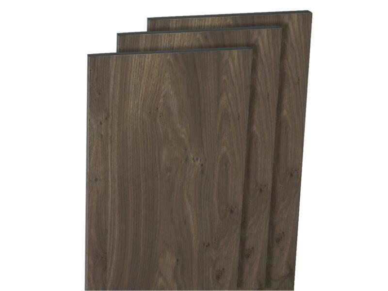 Panneau de meuble 250x50 cm chêne foncé