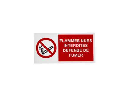 Panneau interdit flamme 15x30 cm