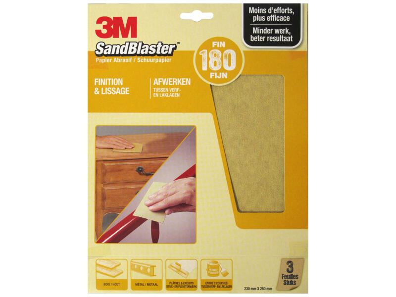 3M Papier abrasif G180 280x230 mm