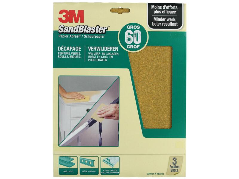 3M Papier abrasif G60 280x230 mm