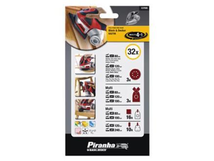 Piranha Papier abrasif assortiment 32 pièces X37095-XJ