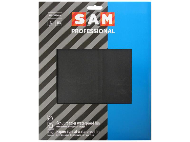 Sam Papier abrasif waterproof G400 fin (5 pièces)