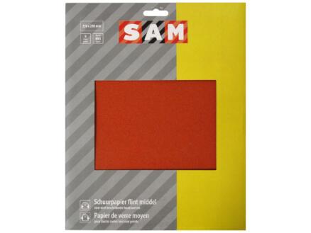 Sam Papier de verre G100 moyen (5 pièces)