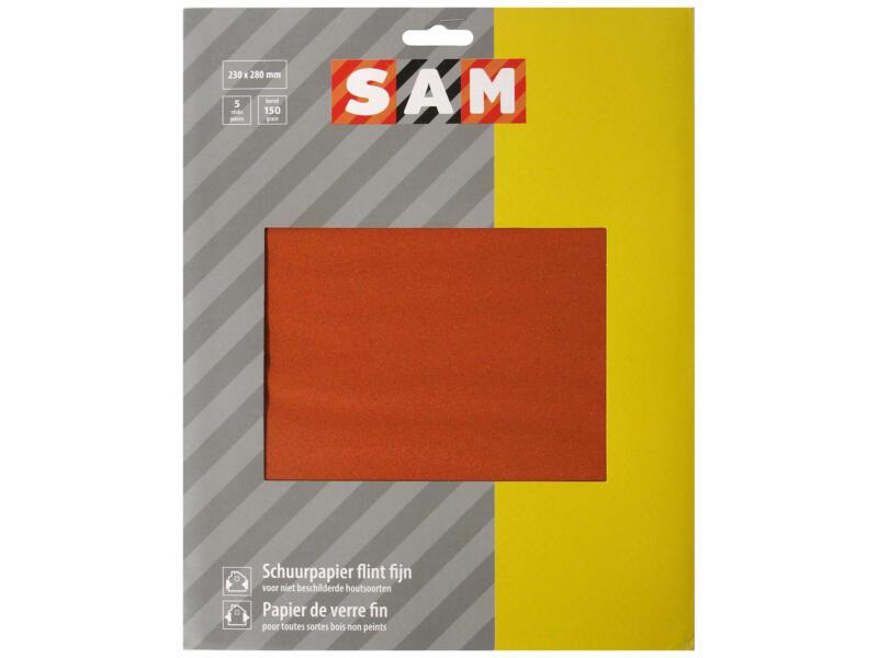 Sam Papier de verre G150 fin (5 pièces)