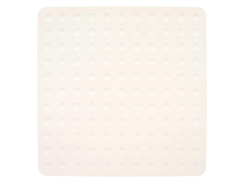 Differnz Papula tapis antidérapant baignoire 54x54 cm blanc