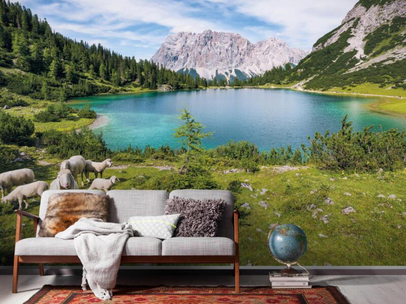 Paradise Lake intissé photo numérique 4 bandes