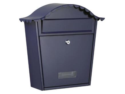 Perel Parijs brievenbus gegalvaniseerd staal blauw