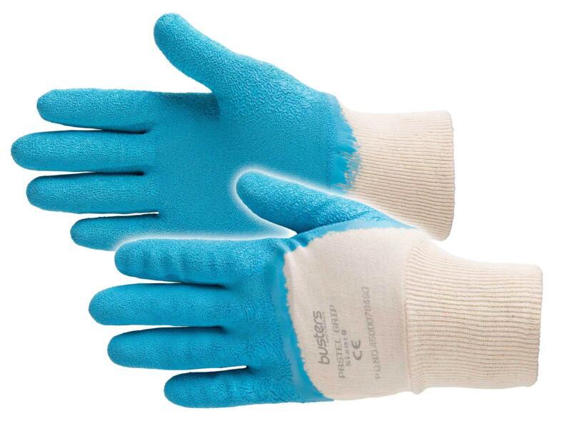 Busters Pastel Grip gants de jardinage M coton bleu