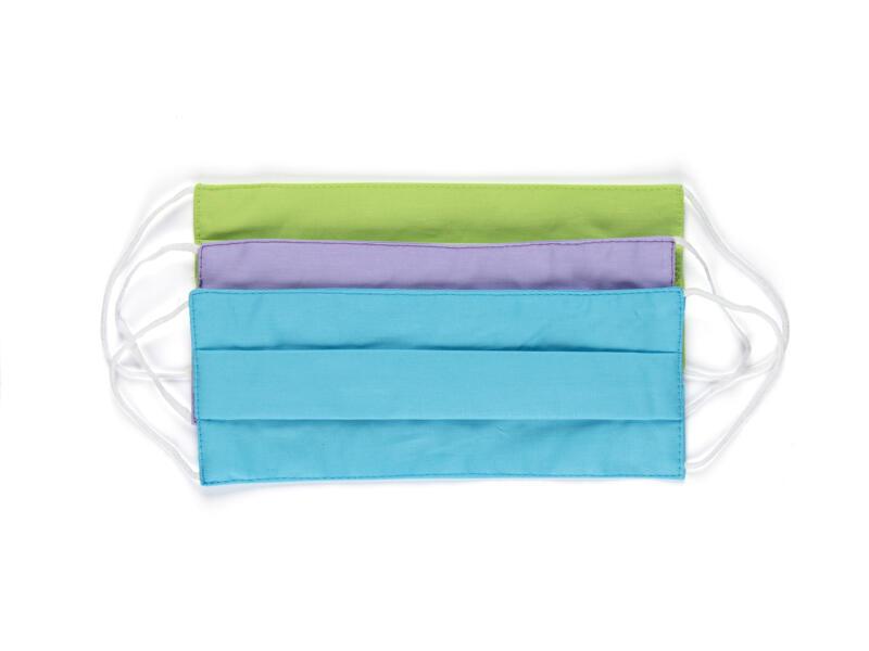 Busters Pastel mondmasker 3-laags wasbaar 3 stuks