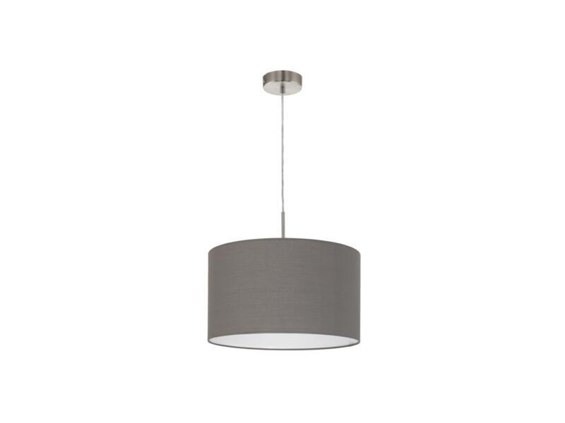Eglo Pasteri hanglamp E27 max. 60W 38cm nikkel mat bruin-antraciet