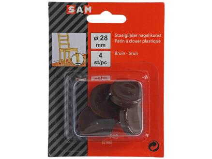 Sam Patin à clouer 28mm brun 4 pièces
