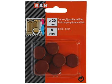Sam Patin glissant 20mm brun 8 pièces