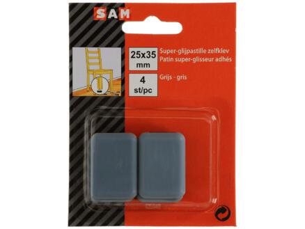 Sam Patin glissant 25x35 mm gris 4 pièces