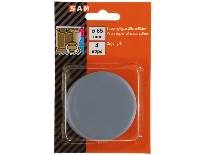 Sam Patin glissant adhésif 65mm gris 4 pièces