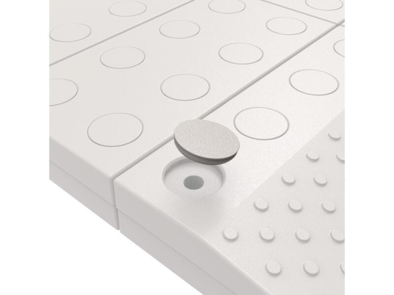 Patins de remplissage pour rampe de seuil modulaire gris/brun 14 pièces