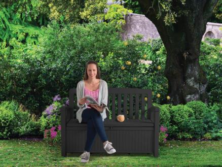 Keter Patio banc de jardin 132,7x63,5x89,5 cm avec rangement
