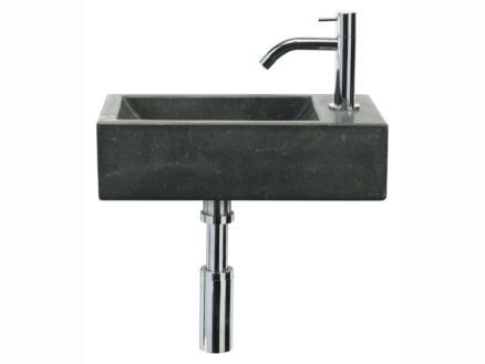 Differnz Patra lave-mains stone 40x23 cm robinet compris pierre bleue
