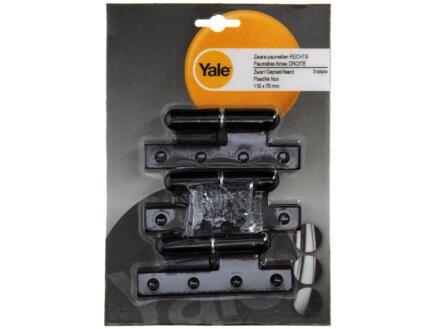 Yale Paumelle 11x7 cm droite noir