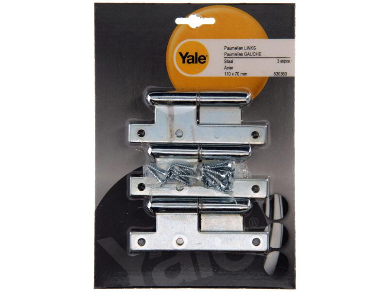 Yale Paumelle 11x7 cm gauche bichromate