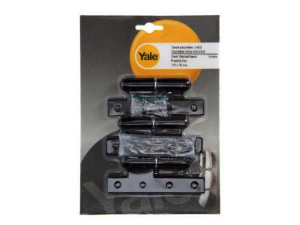 Yale Paumelle 11x7 cm gauche noir