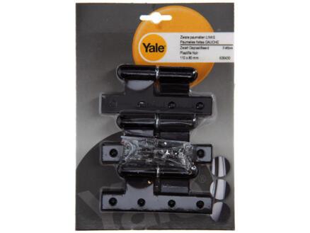 Yale Paumelle 11x8 cm gauche noir