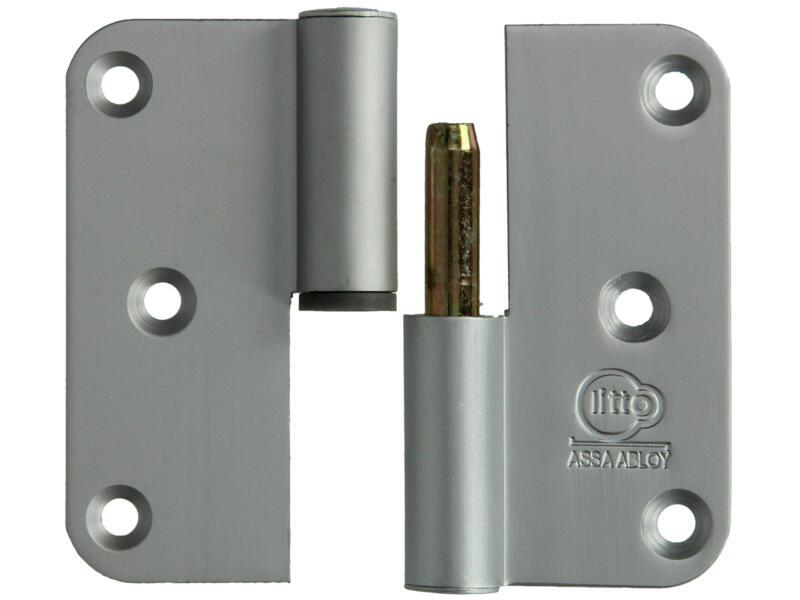 Yale Paumelle 8x8 cm aluminium droite