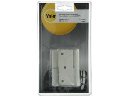 Yale Paumelle 8x8 cm droite blanc