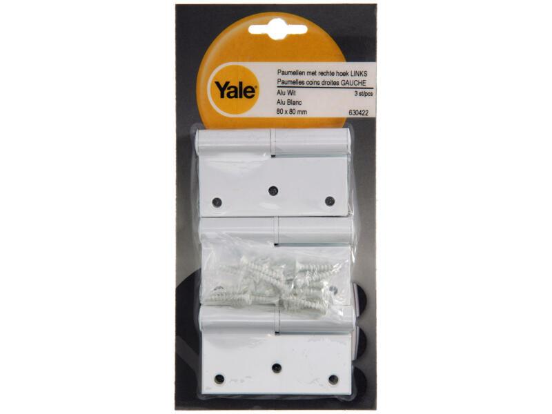 Yale Paumelle 8x8 cm gauche blanc