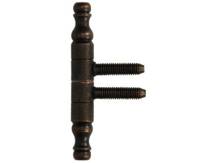 Paumelle de meuble 7,8cm bronze