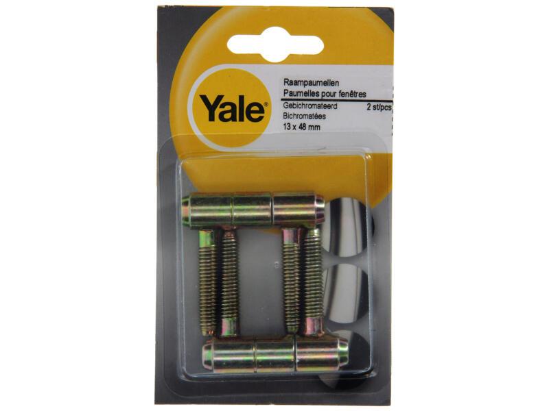 Yale Paumelles de fenêtre encastrables 1,3x4,8 cm