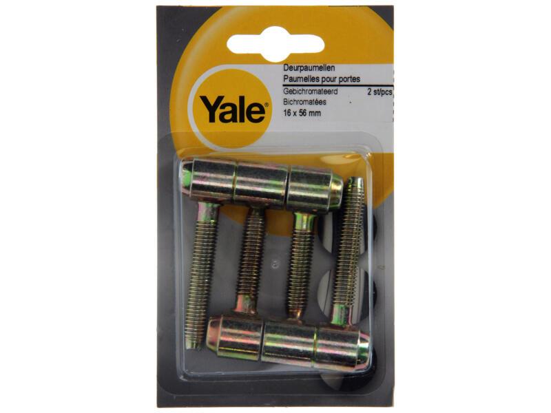 Yale Paumelles de porte encastrables 1,6x5,6 cm