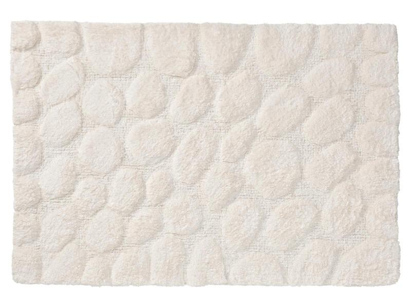 Sealskin Pebbles tapis de bain 90x60 cm ivoire