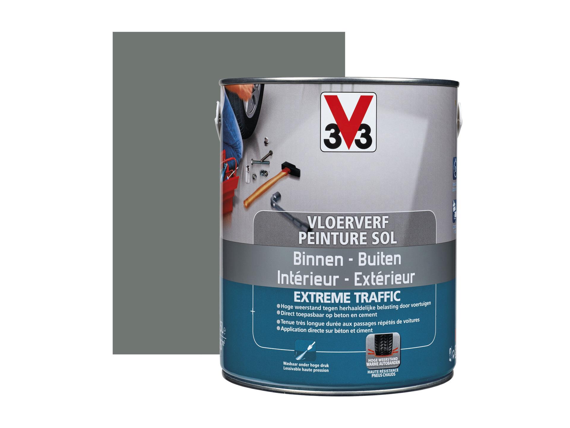 V33 Peinture Pour Sol Trafic Extrême 25l Satin Béton Hubo