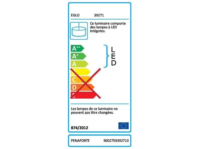 Eglo Penaforte suspension LED 30,5W dimmable blanc
