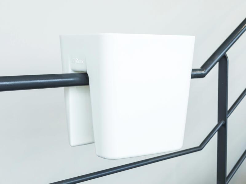 Pendulum Square pot cavalier 42x37 cm blanc