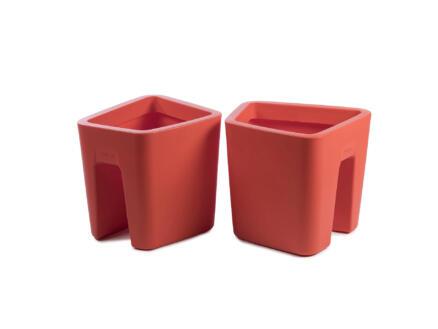 Pendulum Square pot cavalier 42x37 cm orange