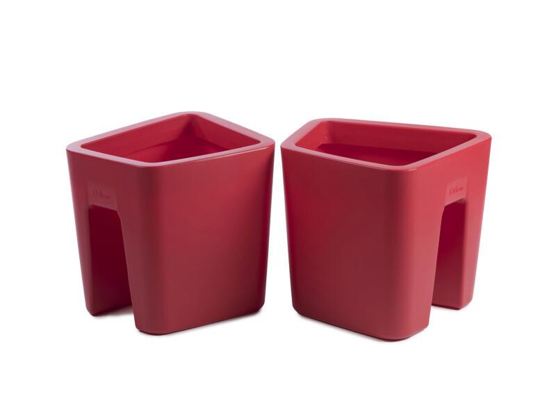 Pendulum Square pot cavalier 42x37 cm rouge