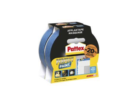 Pattex Perfect Paint ruban de masquage 25m x 30mm bleu 2 pièces