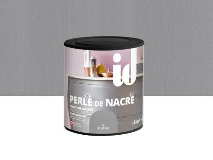 Perle de nacre peinture meubles bois et MDF 0,5l platina