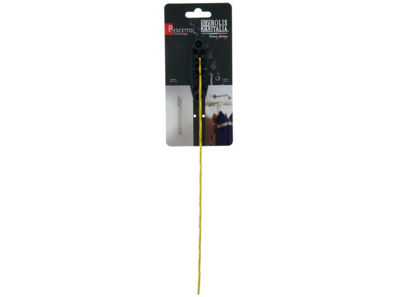 Pescetto crochet portemanteau 10 crochets jaune