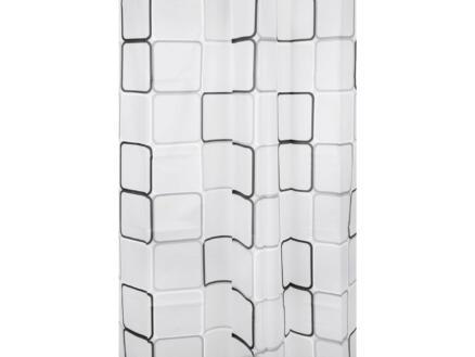 Differnz Peva Cubi rideau de douche 180x200 cm noir/blanc